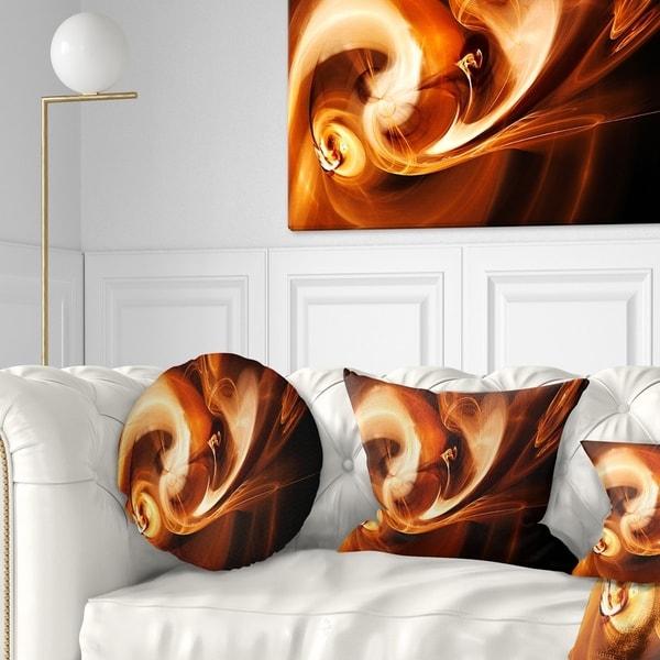 Designart 'Fractal Smoke Texture Brown' Abstract Throw Pillow