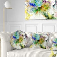 Designart 'Wings of Angels Purple' Abstract Throw Pillow