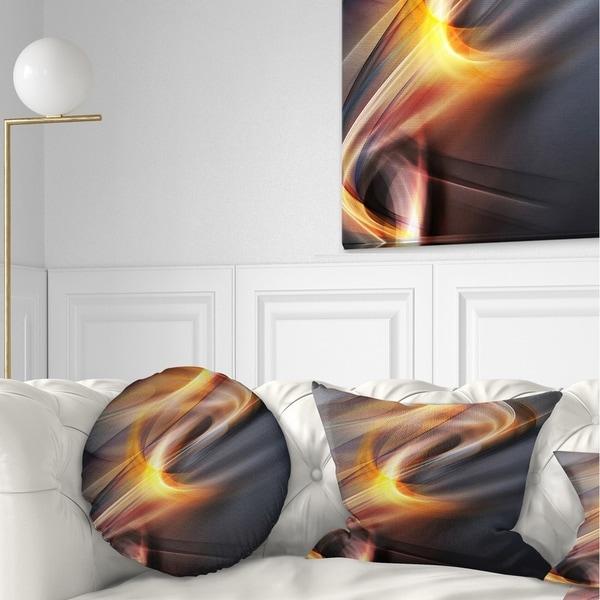 Designart 'Yellow Gray Light Art' Abstract Throw Pillow