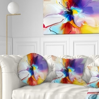 Designart 'Creative Flower in Multiple Colors' Floral Throw Pillow