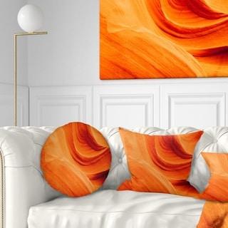 Designart 'Orange Upper Antelope Canyon' Landscape Photography Throw Pillow