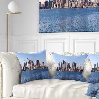 Designart 'Boston Skyline Panorama' Cityscape Photo Throw Pillow