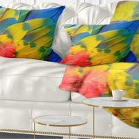 Designart 'Scarlet Macaw Feathers' Photography Throw Pillow