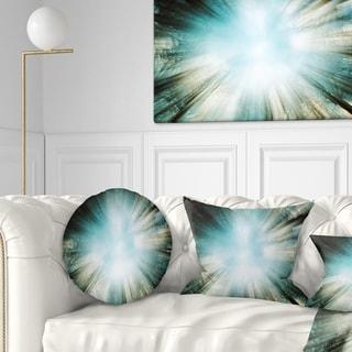 Designart 'Light From Sky' Abstract Throw Pillow