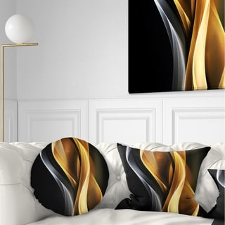 Designart 'Brown White Light Art' Abstract Throw Pillow