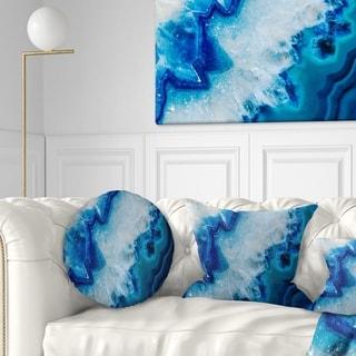 Designart 'Geode Slice Macro' Abstract Throw Pillow