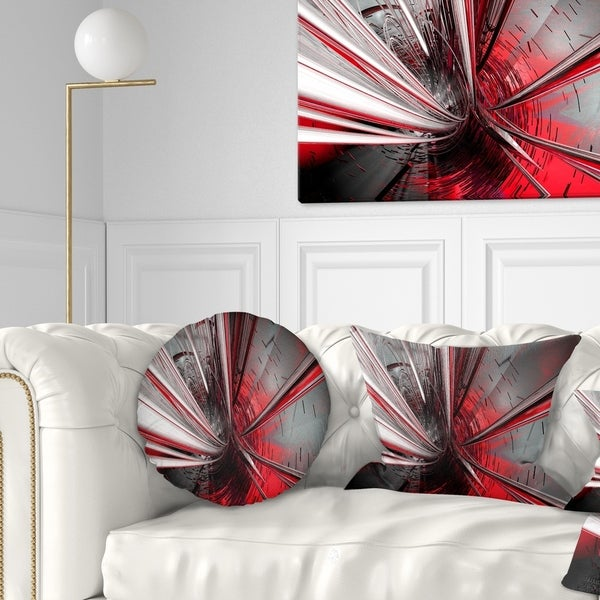 Designart 'Fractal 3D Deep into Middle' Contemporary Throw Pillow