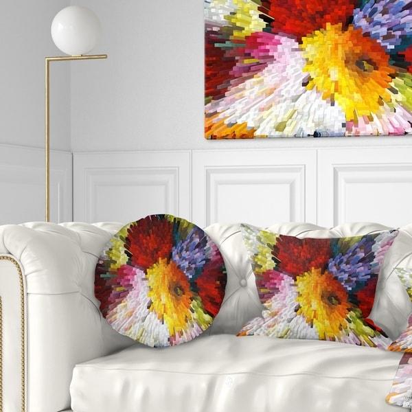 Designart 'Extrusive 3D Fabric Flowers' Floral Throw Pillow