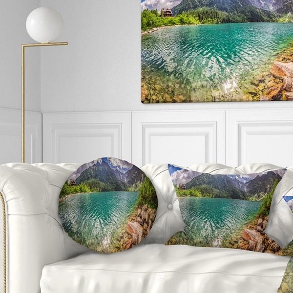 Designart 'Lake in Tatra Mountains Poland' Seashore Throw Pillow