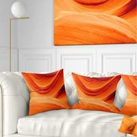 Designart 'Antelope Canyon Orange Wall' Landscape Photography Throw Pillow