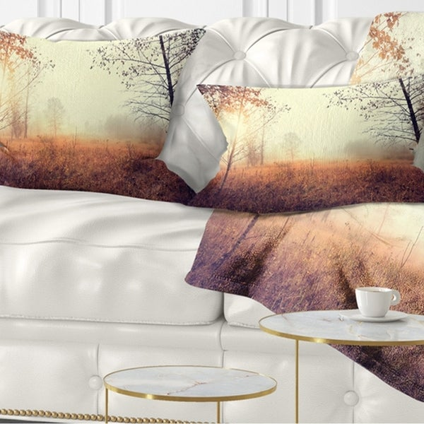Designart 'Beautiful Natural Landscape with Trees' Landscape Printed Throw Pillow