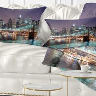 Designart 'New York City Manhattan Skyscrapers' Cityscape Throw Pillow