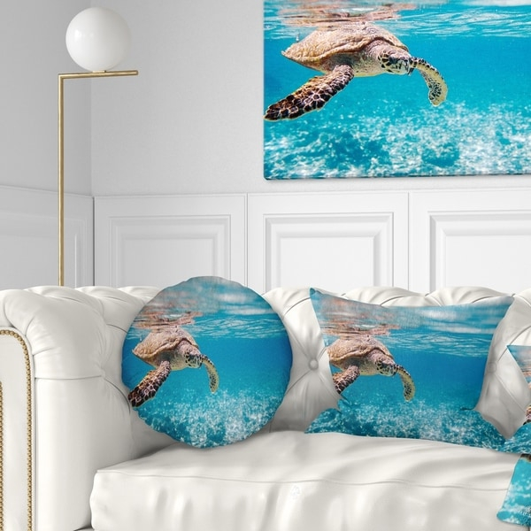 Shop Designart Large Hawksbill Sea Turtle Abstract Throw