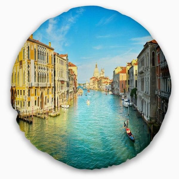 Designart Vibrant Evening Venice Italy Cityscape Throw Pillow On Sale Overstock 20890721