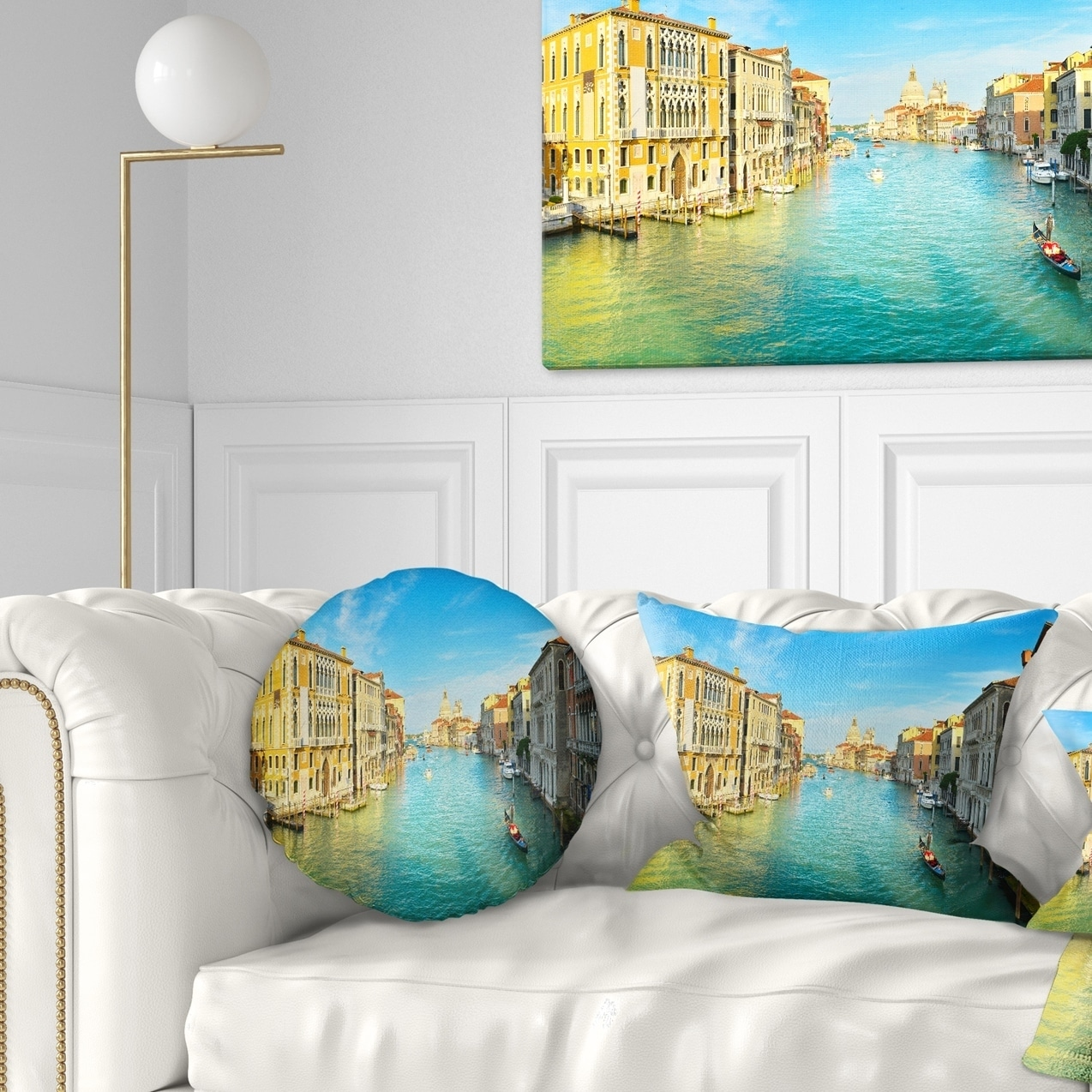 Designart Vibrant Evening Venice Italy Cityscape Throw Pillow On Sale Overstock 20890721