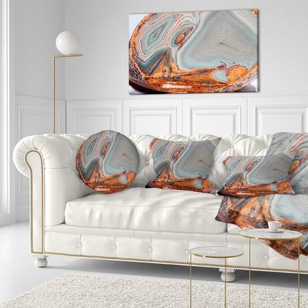 Designart 'Beautiful Lake Superior Agate' Abstract Throw Pillow