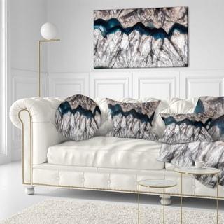 Designart 'Mineral Macro' Abstract Throw Pillow