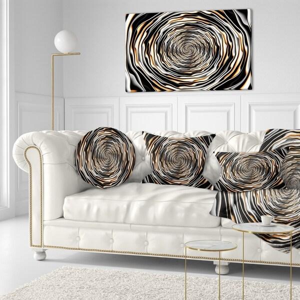 Designart 'Fractal Rotating Abstract Design' Abstract Throw Pillow