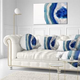 Designart 'Macro of Blue Agate Stone' Abstract Throw Pillow