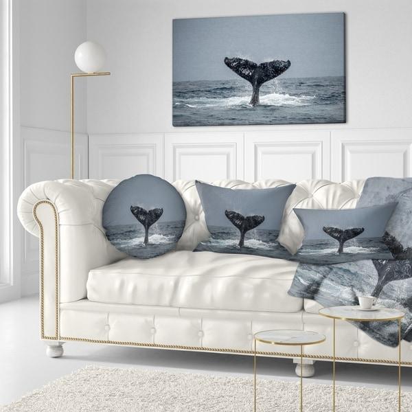 Shop Designart Large Humpback Whale Tail Animal Throw