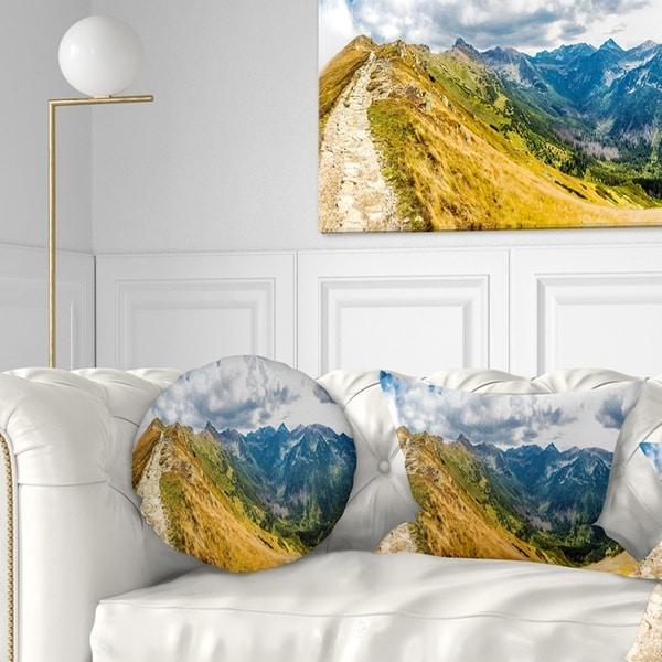 Designart 'Low Tatras Hike Panorama' Landscape Printed Throw Pillow