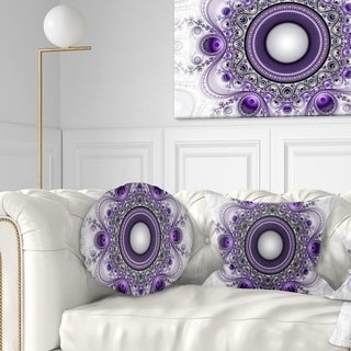 Designart 'Purple Fractal Pattern with Circles' Abstract Throw Pillow