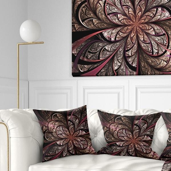 Shop Designart Glowing Large Fractal Flower Design