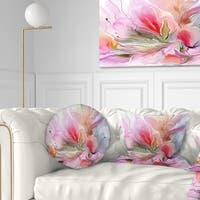 Designart 'Lovely Painted Floral Design' Floral Throw Pillow