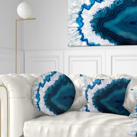 Strick & Bolton 'Blue Brazilian Geode' Abstract Throw Pillow