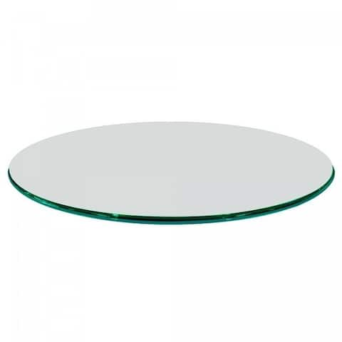 """Round Glass Table Top 1/2"""" Thick Ogee Edge Tempered Glass"""