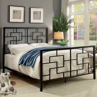 Furniture of America Maron Contemporary Geometric Metal Bed
