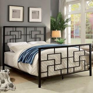 Furniture of America Maron Contemporary Geometric Metal Bed