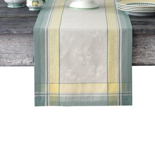 """Villeroy and Boch Fleurence Jacquard Table Runner - 16"""" w x 72"""" l"""