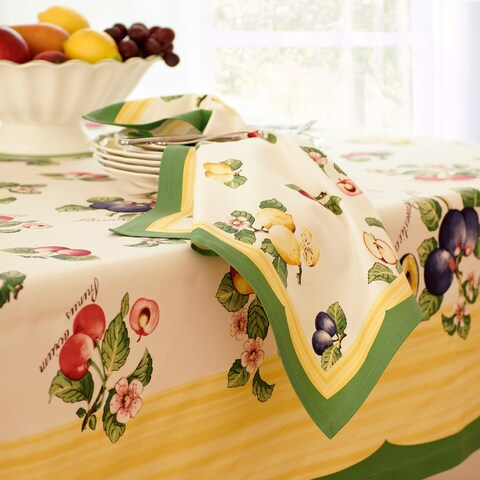 "Villeroy and Boch French Garden Set of 4 Napkins - 21"" x 21"""