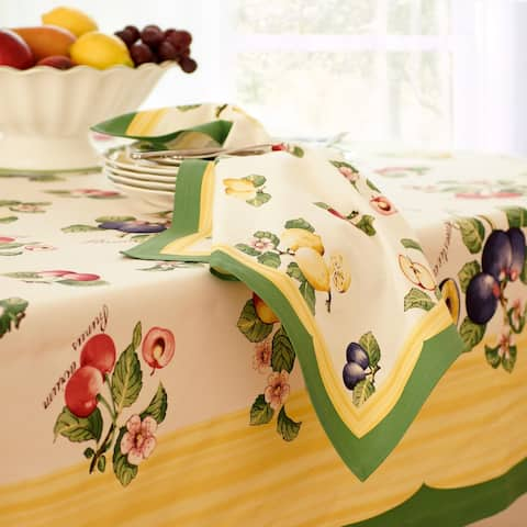 """Villeroy and Boch French Garden Set of 4 Napkins - 21"""" x 21"""""""