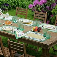 """Villeroy and Boch French Garden Set of 4 Placemats - 14"""" w x 20"""" l"""