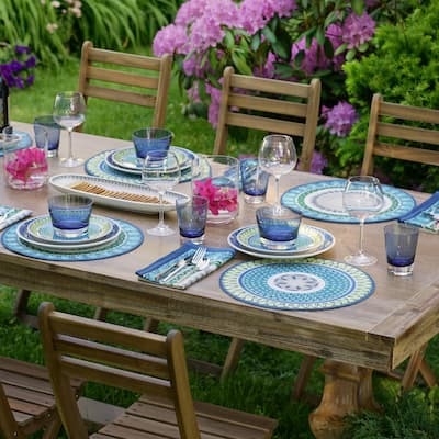 """Villeroy and Boch Casale Blu Set of 4 Placemats - 14"""" w x 20"""" l"""