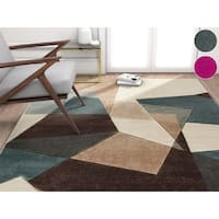 """Well Woven Modern Geometric Abstract Mint Area Rug - 7'10"""" x 9'10"""""""