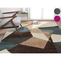 "Well Woven Modern Geometric Abstract Mint Area Rug - Multi - 7'10"" x 9'10"""