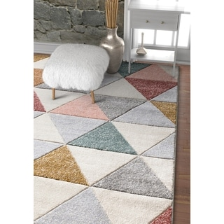 Well Woven Modern Geometric Triangles Area Rug