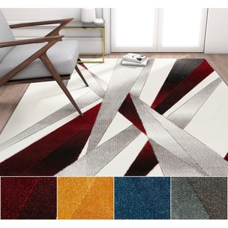 """Well Woven Modern Abstract Lines Area Rug - 5'3"""" x 7'3"""""""
