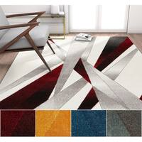 Well Woven Modern Abstract Lines Area Rug (7'10 x 9'10)