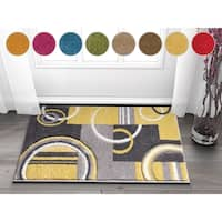 Well Woven Modern Geometric Arcs And Shapes Area Rug - 2' x 3'