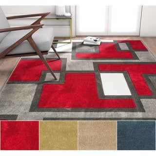 """Well Woven Modern Abstract Lines Area Rug - 6'7"""" x 9'3"""""""