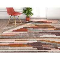 Well Woven Modern Abstract Geometic Multicolored Area Rug (7'10 x 10'6)