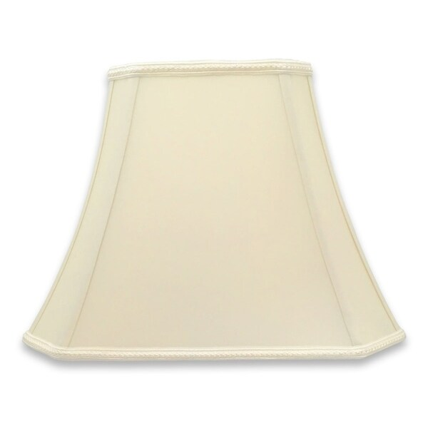 Royal Designs Rectangle Bell Cut Corner Designer Lampshade - Eggshell - (6.25 x 8) x (11 x 16) x 12