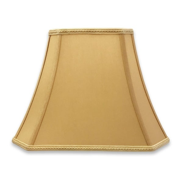 Royal Designs Rectangle Bell Cut Corner Designer Lampshade - Antique Gold - (6.25 x 8) x (11 x 16) x 12