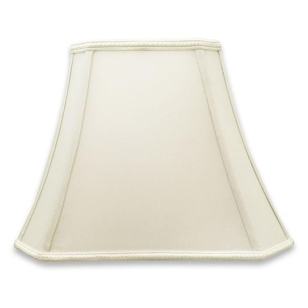 Royal Designs Rectangle Bell Cut Corner Designer Lampshade - White - (6.25 x 8) x (11 x 16) x 12