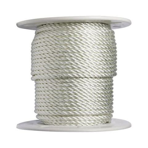 Wellington 3/8 in. Dia. x 300 ft. L Twisted Nylon Rope White