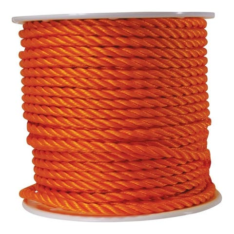 Wellington 1/2 in. Dia. x 300 ft. L Twisted Poly Rope Orange